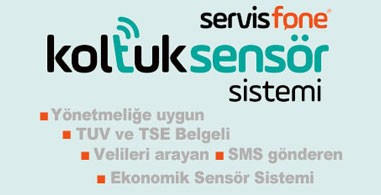 Servisfone koltuk sensör sistemi